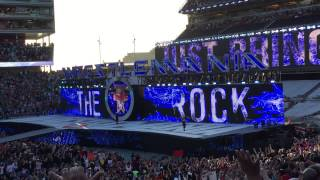 The Rock returns at Wrestlemania 31