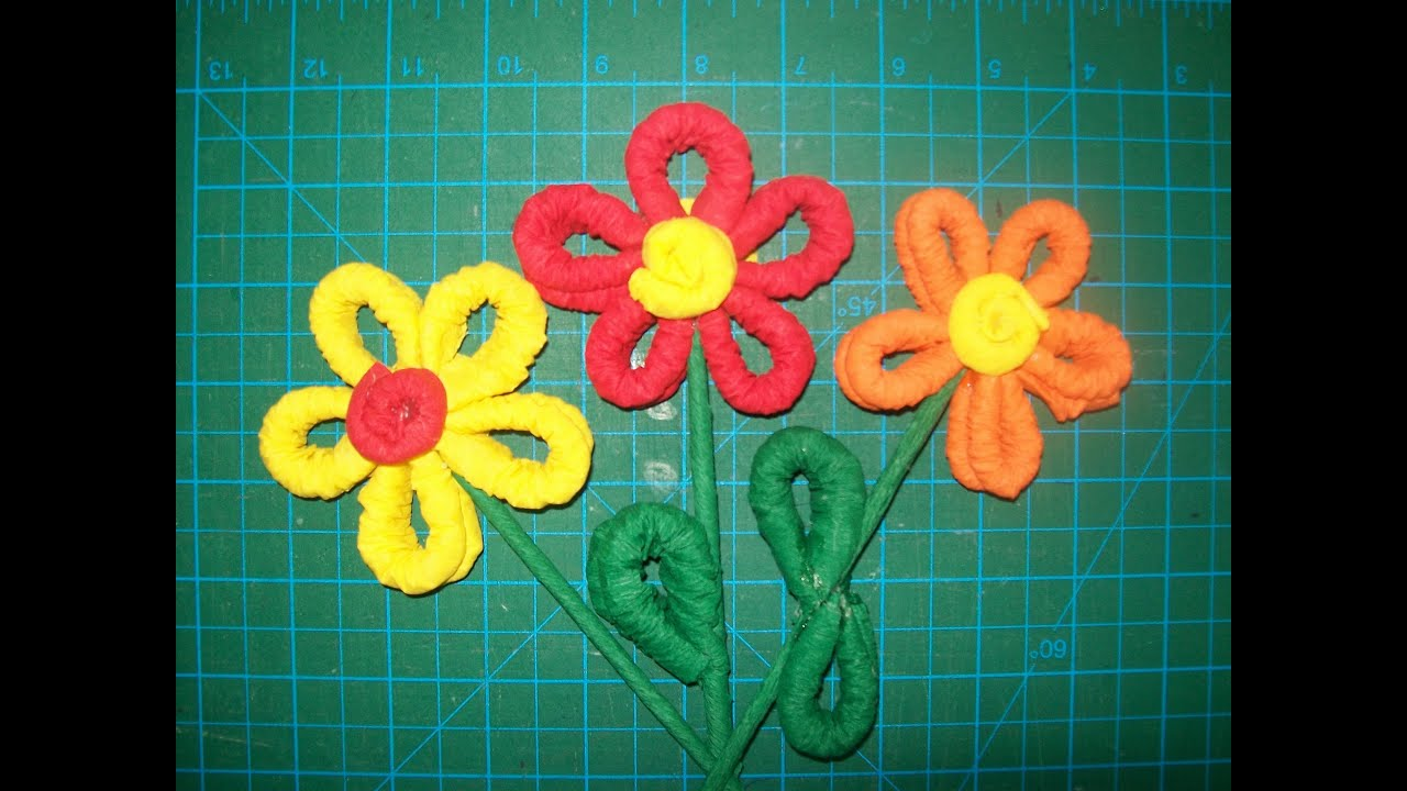 Paso a paso como hacer flor de papel crepe youtube - Como hacer flores ...