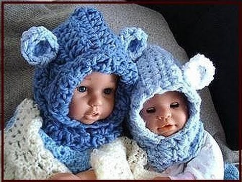 Knitting Pattern Bear Hoodie : BABY BEAR HOODIE, how to crochet, newborn to age 5 ...
