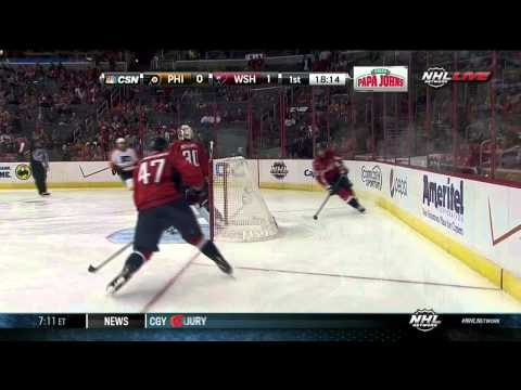 Eric Fehr goal 1-0 Philadelpia Flyers vs Washington Capitals 9/26/13 NHL Hockey