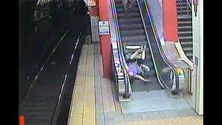 Caídas en escaleras mecánicas