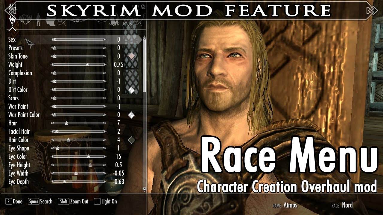 skyrim how to change your race