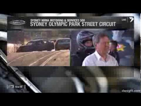 van Gisbergen and Coulthard Crash @ 2013 V8 Supercars Sydney Race 1