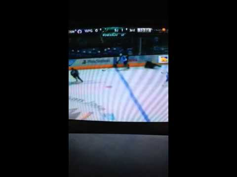 Winnipeg Jets vs San Jose Sharks 1/23/2014