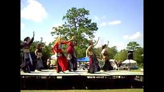 belly dance at festival on the green, uwf, pensacola