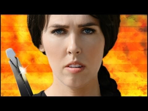 Miley Cyrus - Wrecking Ball (Catching Fire), I am a HUGE Hunger Games fan! Dying to see Catching Fire, have been dying to do a Wrecking Ball parody as well! Eat your heart out Katniss! Or Miley! LOL!--XoXo--BLT :P