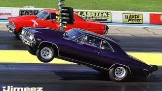 HIGH FLYIN PROCHARGED '66 CHEVELLE VS PROCHARGED '67 NOVA