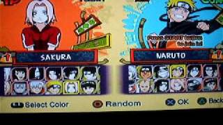 Personagens Naruto Ultimate Ninja 5
