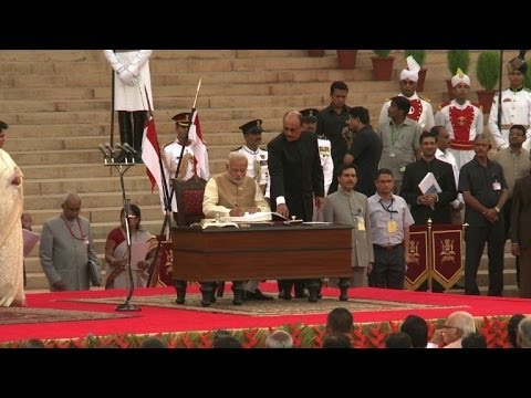 Narendra Modi sworn in as India's Prime Minister