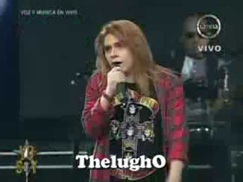 "Yo Soy 09-09-13 AXL ROSE Sorprende al Jurado con ""Sweet Child O'Mine"" [Yo Soy 2013] Temporada Final"