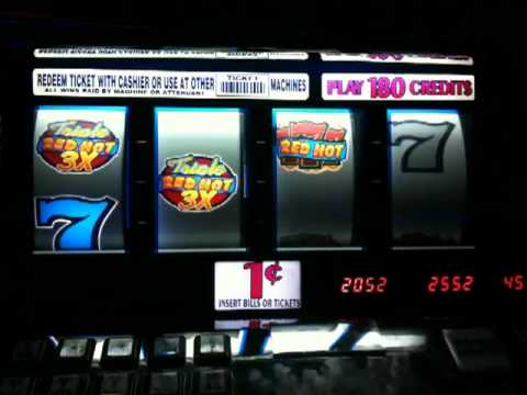 triple red hot sevens slot machine
