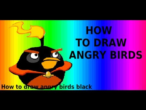 Angry Birds Space How Draw Black Youtube