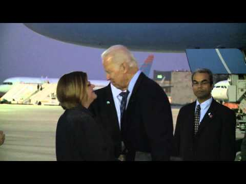 U.S. Vice president Joe Biden arriving to Israel, January 2014