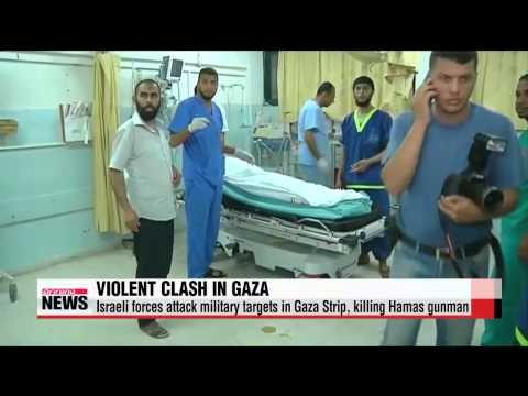 Israeli military troops kill Hamas gunman after rocket attacks