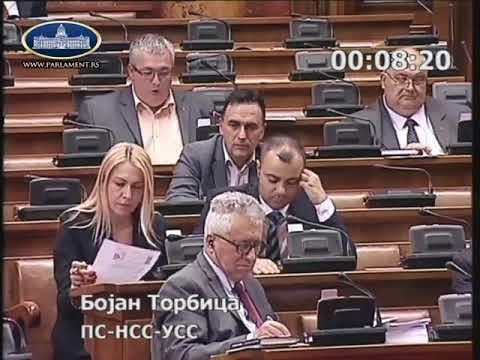Бојан Торбица о предлогу закона о катастру 15.5.2018.