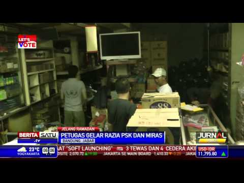 Puluhan PSK dan Ribuan Miras di Bandung Dirazia