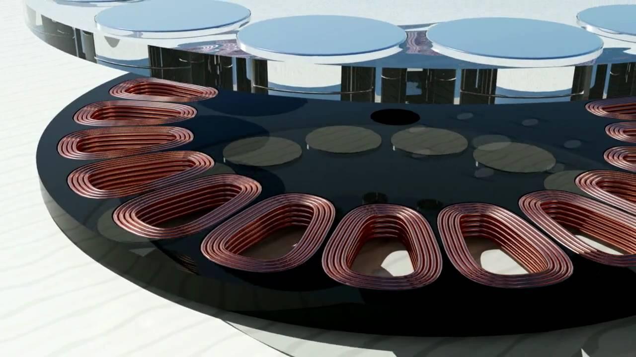 iron free permanent magnet disc motor illustration