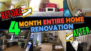 House Remodel - 4 Month Time Lapse (Entire House)