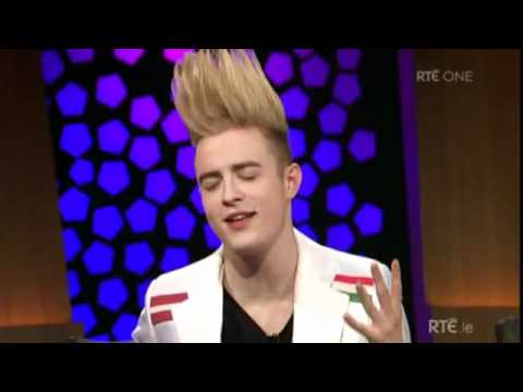 Jedward the Late Late Show Interview and Waterline performance, www.jedwardgenius.com @jedwardgenius Copyright RTE