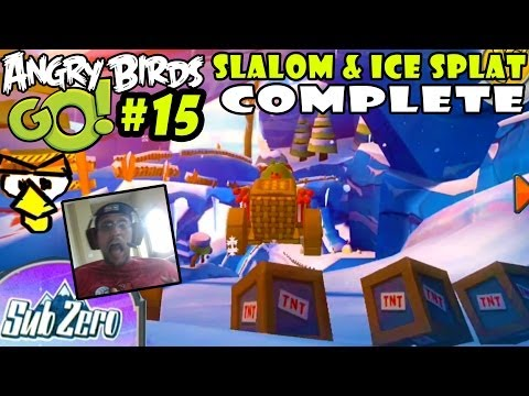 Angry Birds GO! SUB-ZERO Pt. 15 Slalom & Ice Splat Complete (iOS Face Cam Gameplay)