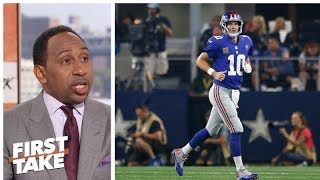 Stephen A. defends Eli Manning, blames Giants offensive line   First Take