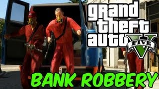 GTA 5 ::Bank Robbery & Cop Chase Gameplay! (Grand Theft