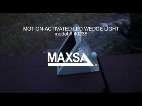 MAXSA Innovations Solar-Powered Motion-Activated LED Wedge Light