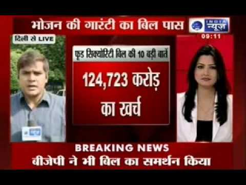 India News : Food Security Bill passed in Lok Sabha, BJP calls it 'vote security bill'