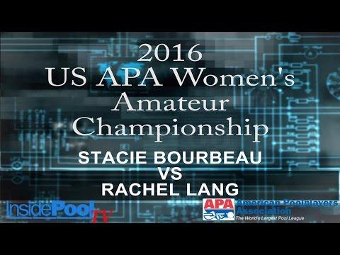 2016 U S  APA Womens Amateur Championship Stacie Bourbeau vs Rachel Lang