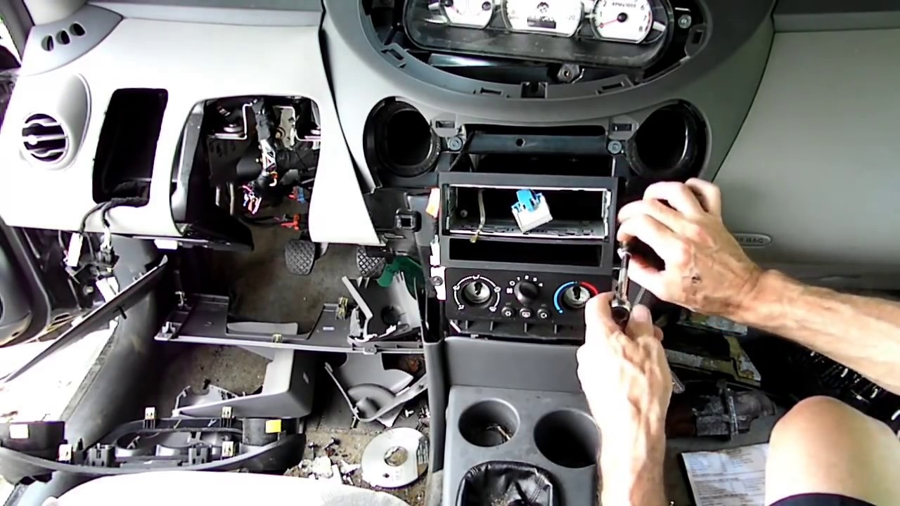 Saturn Ion Heater Air Conditioning Control Removal Youtube