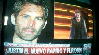JUSTIN BIEBER REMPLAZA A PAUL WALKER EN Rapido Y Furioso 7