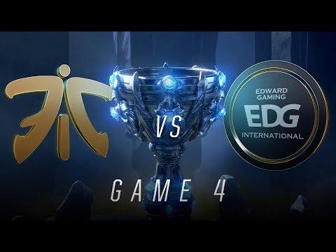 FNC vs EDG | Quarterfinal Game 4 | World Championship | Fnatic vs Edward Gaming (2018)
