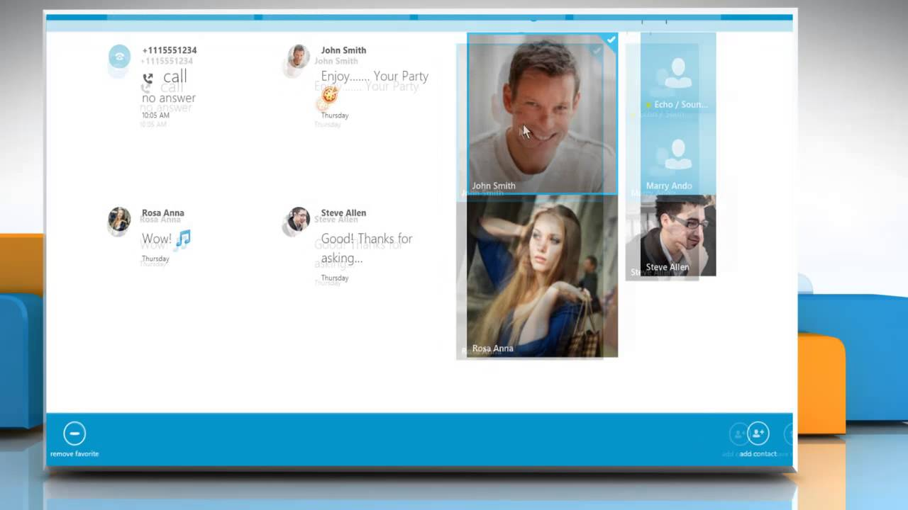 how to add contacts on skype windows 8