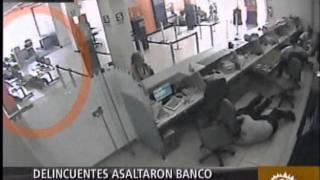 Cámaras De Seguridad Registran Asalto De Banco En