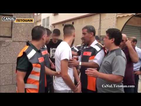 اعادة تمثيل عملية سرقة وكالة تحويل الأموال بحي المحنش الثاني بمدينة تطوان (شاهد الفيديو)