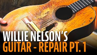 Watch the Trade Secrets Video, Repairing Willie Nelson's Trigger guitar