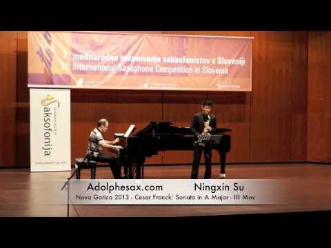 Ningxin Su – Nova Gorica 2013 – Cesar Franck: Sonata in A Major III Mov