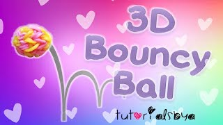 NEW 3D Bouncy Ball MONSTER TAIL Rainbow Loom Tutorial