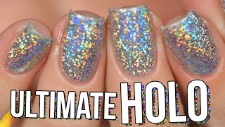 Ultimate HOLO Glitter Nails Burnishing Technique - NO Gel!    TWI_STAR