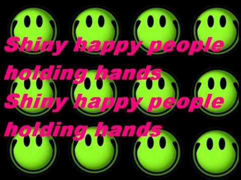 REM & The B52's Shiny Happy People Lyrics.wma - YouTube