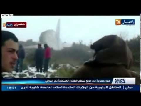 Algerian army plane crashes   scores dead, one survivor