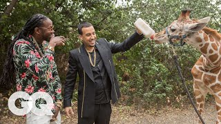 2 Chainz & French Montana Feed a $40K Giraffe | Most Expensivest Shit | GQ