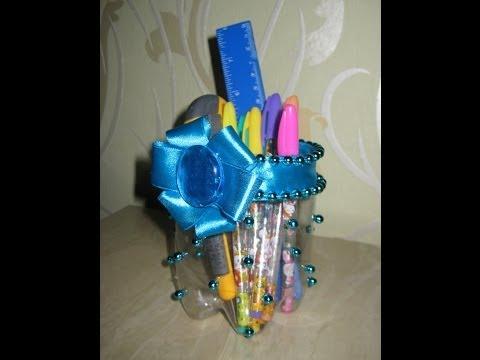Подставка для цветов из бутылок своими руками