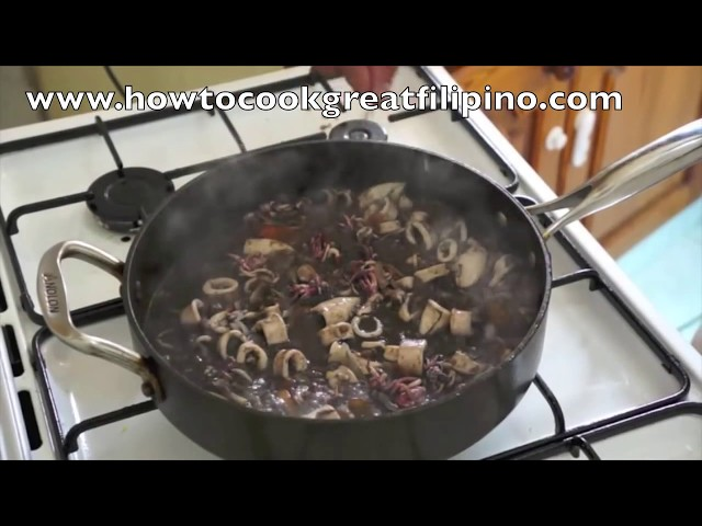 ‪Adobong Pusit Squid Recipe Pinoy food of the Philippines‬ ‪How to cook Great Filipino ‬