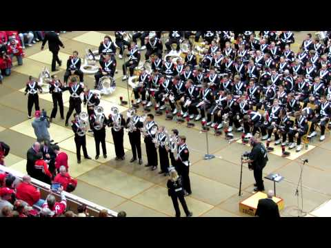OSUMB Various Instrumental Cheers incl Buckeye Swag at Skull Session OSU vs Nebraska 10 6 2012