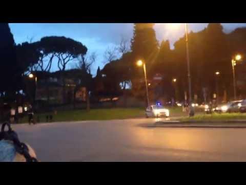 Obama Motorcade in Rome 27/03/2014