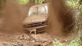 "HUGE CHEVY S-10 4X4 MUD TRUCK ON 54"" BOGGERS BLASTIN"