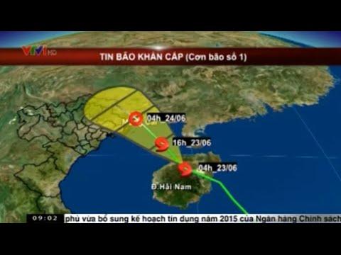 Tin bão khẩn cấp cơn bão số 1 năm 2015: Tiến sát Móng Cái, gió giật cấp 10