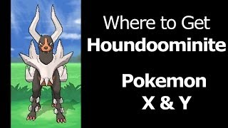 Where To Find Houndoominite Pokemon X Y