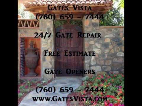Gate Repairs Vista (760) 659 - 7444 Gate Openers